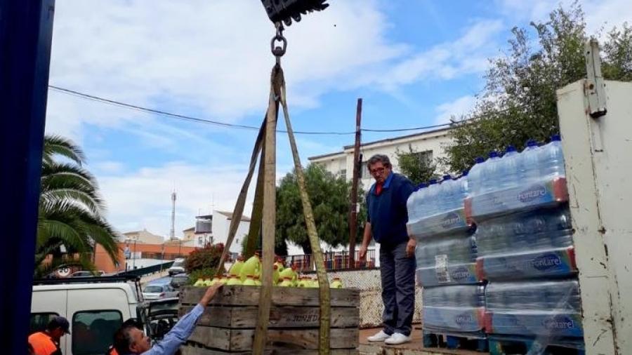 Camion donacion inundaciones teba 2018